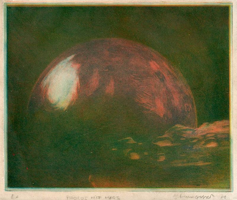Phobos mit Mars [Phobos with Mars]